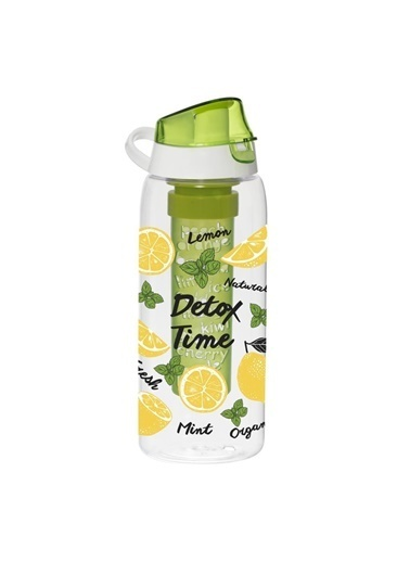Herevin Infuserli Limon Desen Detox Matara 900 ml Renkli